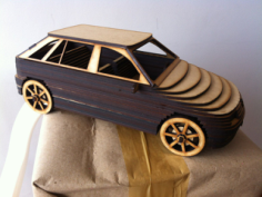 Car Mdf 3D Laser Cutting Free Vector Cdr