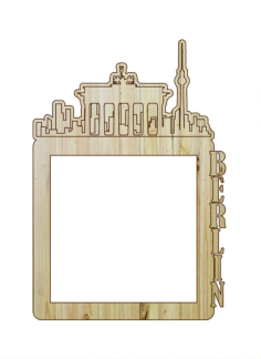 Laser Cut Photo Frame Berlin Free Vector Cdr