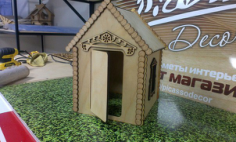 House 3D Puzzle Laser Cut Free Vector Cdr