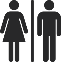 Toilet Man And Woman Sign Free Vector Cdr