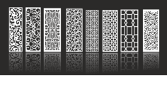 Decorative Screen Collection Free Vector Cdr