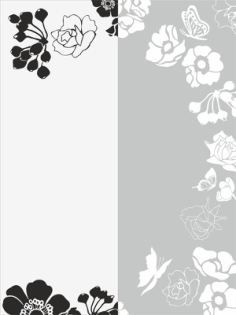 Flower Sandblast Pattern Free Vector Cdr