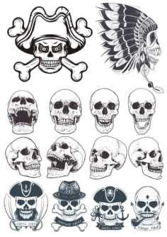 Skull Vectors Collection Free Vector Cdr