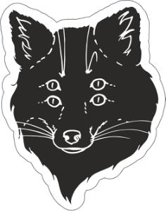 Black Fox Sticker Vector Art Free Vector Cdr