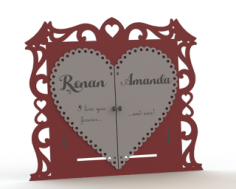 Couple Photo Frame Laser Cut Free Vector Cdr