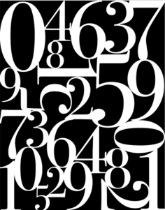 Abstract Number Wall Art Free Vector Cdr