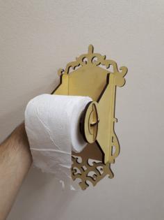 Toilet Paper Holder Laser cut Free Vector Cdr
