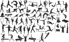 Sports Silhouettes Vector Set Free Vector Cdr