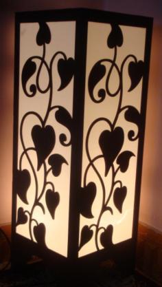 Room Lamp DIY 3d Puzzle Vector Free Vector Cdr