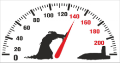 Death pushing arrow of speedometer Car Sticker Free Vector Cdr