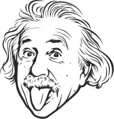 Albert Einstein Vector Free Vector Cdr