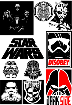 Star Wars Silhouette Vector Pack Free Vector Cdr