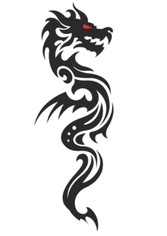 Cool Tribal Dragon Tattoo Design Vector Free Vector Cdr