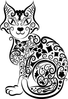 Cat Vector Line Art Free Vector Cdr