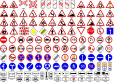 Road Sign Vector Set Free Vector Cdr