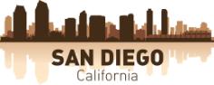 San Diego Skyline Free Vector Cdr