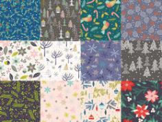 Winter Patterns Collection Free Vector Cdr