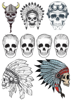 Skull Vector Art Pack Free Vector Cdr