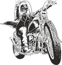 Motorcycle Vector Skull Free Vector Cdr