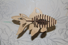 Fish 3D Puzzle Laser cut Pattern Free Vector Cdr