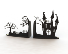 Horror Book Support Laser Cut Free Vector Cdr