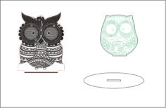 Sleepy-eyed Owl Night Light Free Vector Cdr