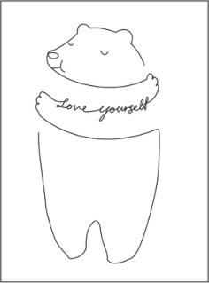 Love Yourself Medved Free Vector Cdr