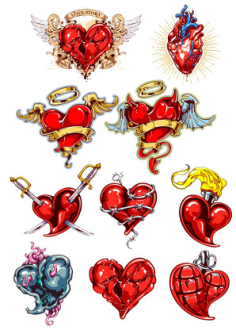 Heart Tatoo Free Vector Cdr