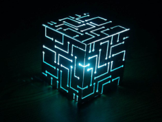 Alien Cube Lamp Free Vector Cdr