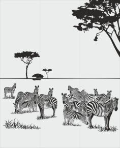 Animals Zebra Sandblast Pattern Free Vector Cdr