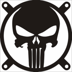 The Punisher Fangrill 120mm X 120mm Free Vector Cdr