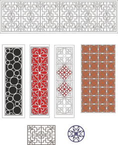 Lattice design collection Free Vector Cdr