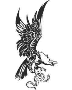 Eagle with Snake in Claws Vector Free Vector Cdr