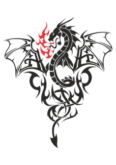 Baby Dragon Tattoo Vector Free Vector Cdr