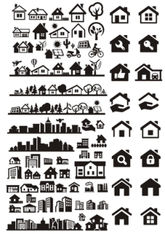 Buildings City Houses Vectors Free Vector Cdr
