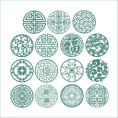 Round Ornaments Vectors Free Vector Cdr