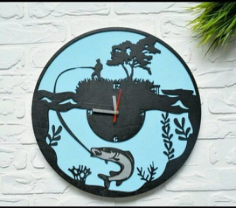 Clock For The Fisherman Free Vector Cdr