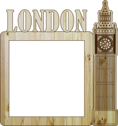Laser Cut Photo Frame London Free Vector Cdr
