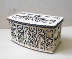 Gift Box Laser Cut CNC Router Plans 3mm Free Vector Cdr