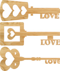 Heart Key Love Keys Free Vector Cdr
