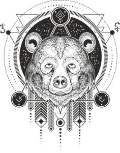 Bear Print Free Vector Cdr