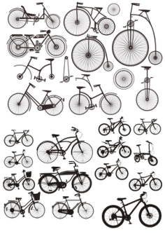 Bicycles Stickers Free Vector Cdr