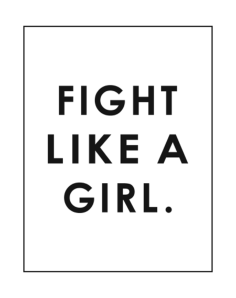 Fight Like a Girl Poster Free Vector Cdr
