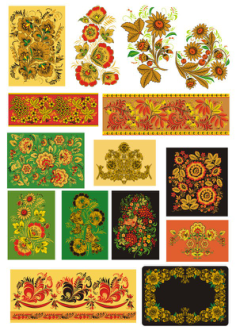 Khokhloma Traditional Russian Vector Seamless Pattern Free Vector Cdr