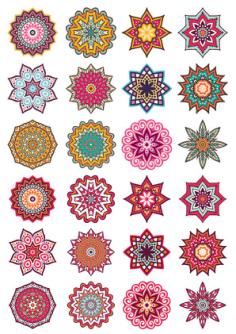 Mandala Decorative Elements Free Vector Cdr