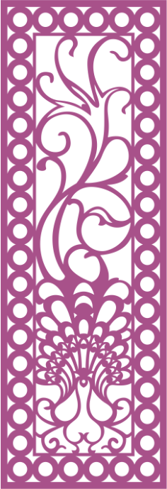 Design of laser cut screen Free Vector Cdr