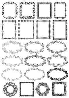 Floral Borders Free Vector Cdr