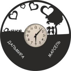 Love Vinyl Clock Free Vector Cdr