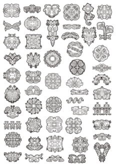 Celtic Ornament Elements Free Vector Cdr
