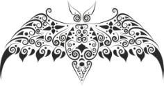 Bat Stencil Free Vector Cdr